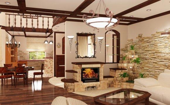 Дизайн каминного зала фото