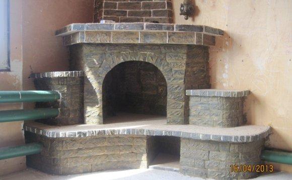 Угловые декоративные камины